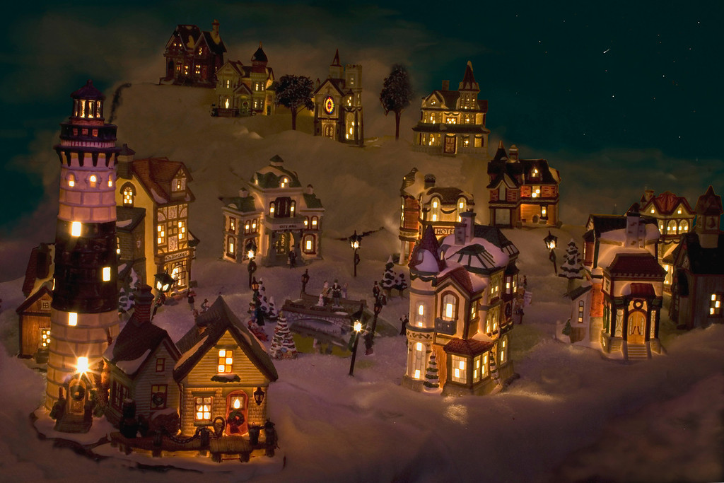 Just playing with our Christmas village